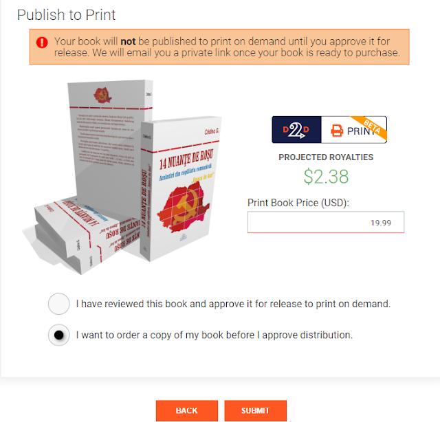Draft2Digital publică și cărți tipărite in limba romana