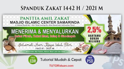 Desain Spanduk Zakat 1442 PSD