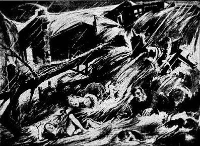 Νέα Λιόσια, συνοικισμός Ριμινιτών. Το νερό έπνιξε τα εφτά  μέλη της οικογένειας Ρίτση και διέλυσε εντελώς το σπίτι τους.