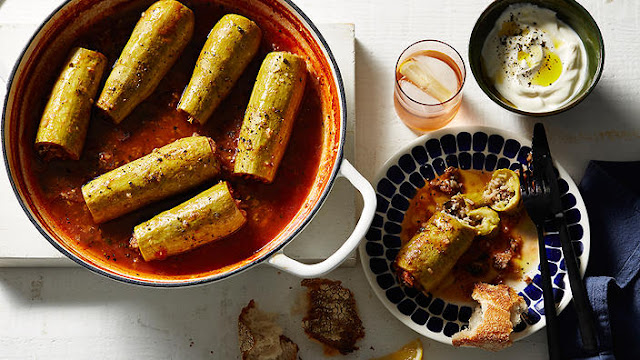 Stuffed Zucchini (Kousa Mahshi) Recipe