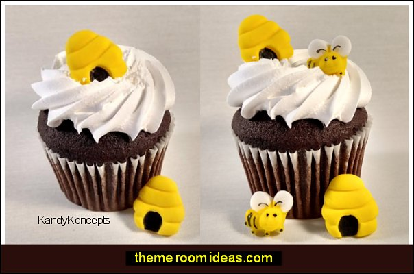 Bee Hives Fondant Bee Hive Edible Bee Hive, Honey Bees, Honey Cupcake Toppers, bee Cake Decorations