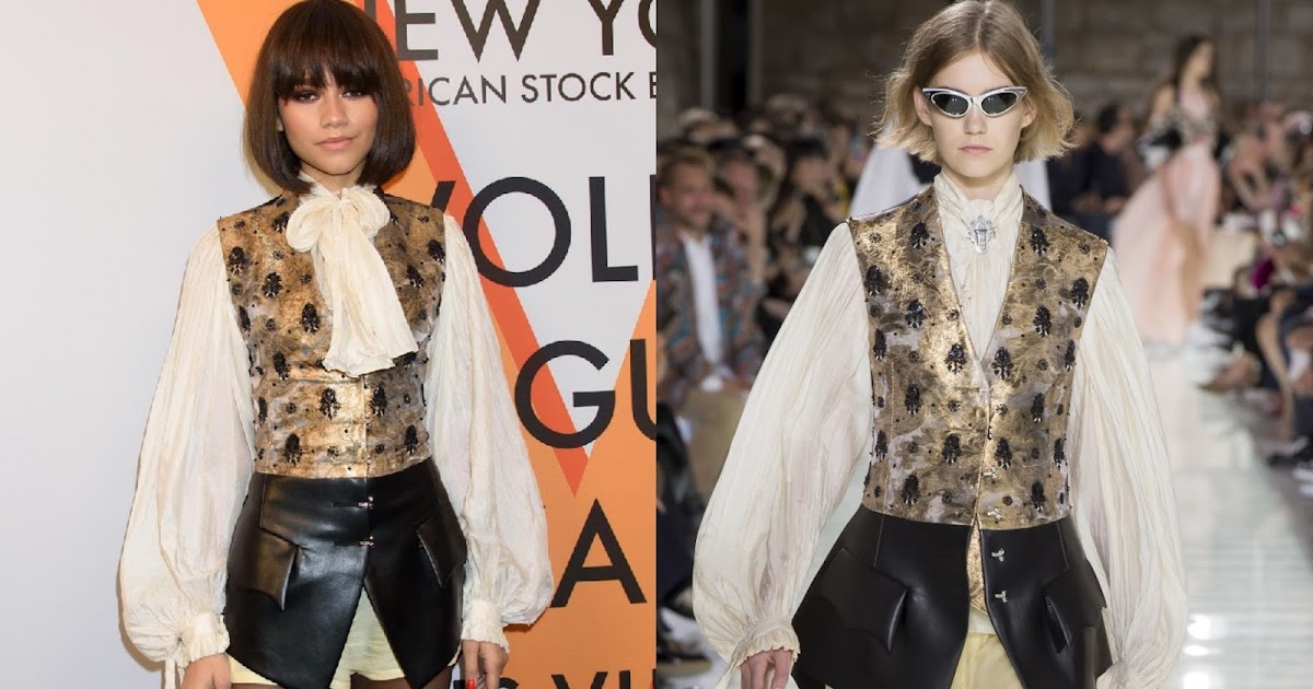 best dressed fashionista of the week zendaya in louis vuitton. Black Bedroom Furniture Sets. Home Design Ideas
