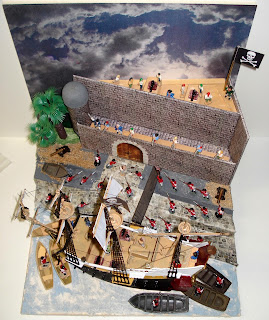 Diorama; Fort Matanzas; HMS Bounty; HMS Endeavour; International Talk Like A Pirate Day; ITLAPD; Long John Silver; Peter Pig; Pirate Figures; Pirates; PYRO Schooner; Redcoats; Revell Pirate Ship; Revenue Men; Ripmax; Small Scale World; smallscaleworld.blogspot.com; Spanish Florida; St. Augustine; Talk Like A Pirate;