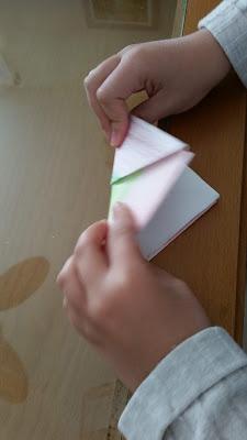 Paso 7 barquito de papel