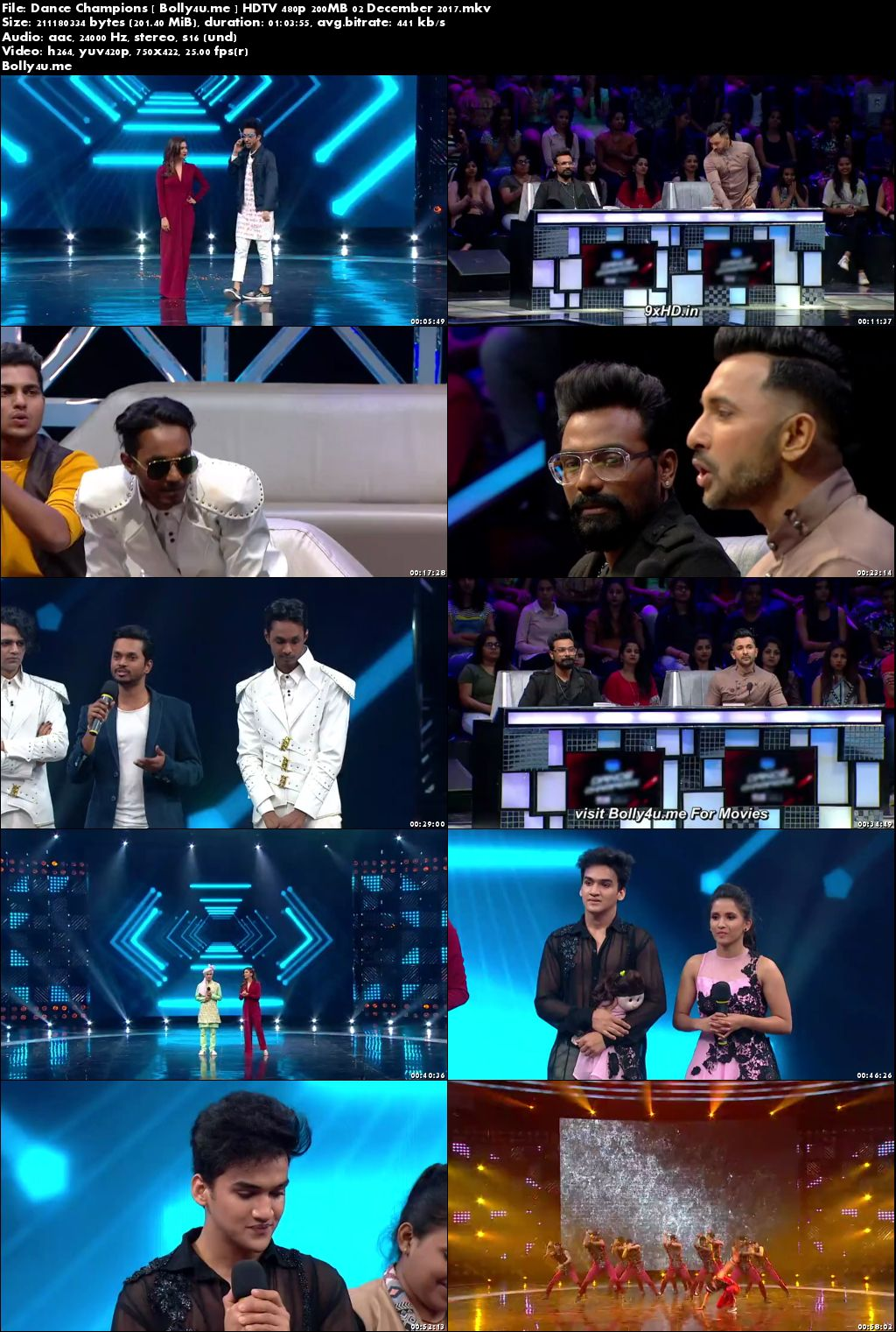 Dance Champions HDTV 480p 200MB 02 December 2017 Download