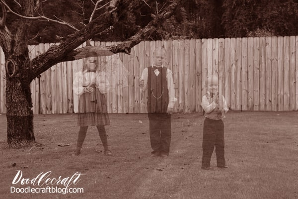 Haunting Ghost Children caught on camera from Victorian age! Halloween Photograph Editing Tutorial