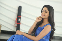 Divya Nandini stunning Beauty in blue Dress at Trendz Exhibition Launch ~  Celebrities Galleries 020.JPG