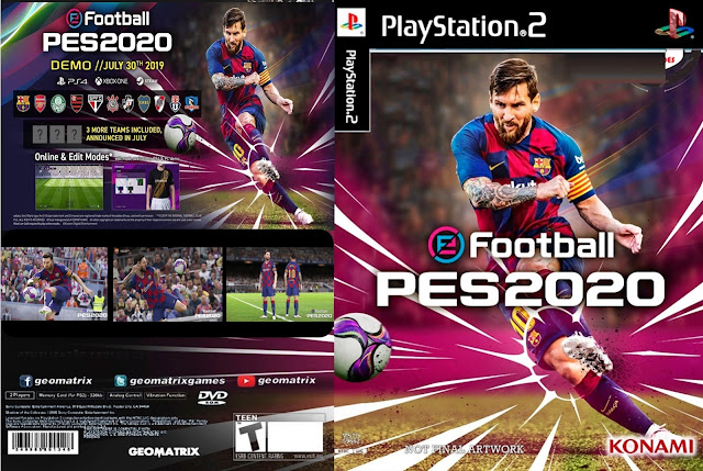 Descarga eFootball Pro Evolution Soccer 2020  (PES 2020) NTSC-PAL ps2 iso