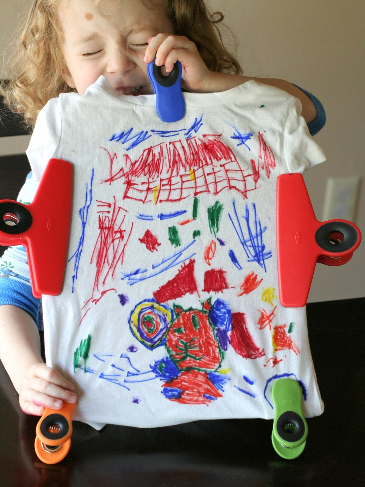 Make Your Own Shirt: Sharpie Tie Dye from Fun at Home with Kids