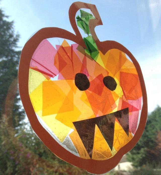 Stained Glass Pumpkin Suncatcher Craft