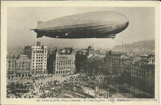El Graf Zeppelin en Barcelona durante la expo 1929