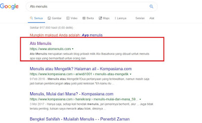 Pengaruh Keunikan Nama Blog Untuk Pencarian Google di Laman Pertama