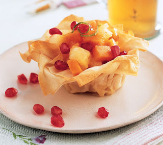 tropical phyllo baskets recipe