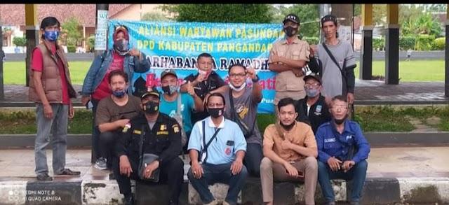 Puluhan Jurnalis Yang Tergabung Di Organisasi AWP Pangandaran Kecam Tindakan Kekerasan Terhadap Awak Media Di Majalengka