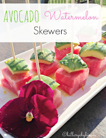 An easy recipe for a delicious and pretty appetizer. Use Watermelon and Avocado for these easy skewers.