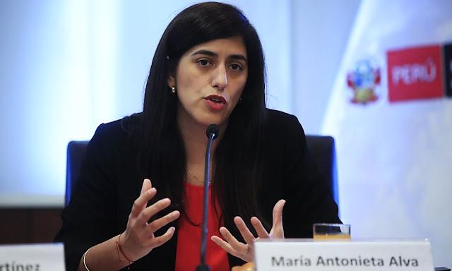 Titular del MEF, María Antonieta Alva