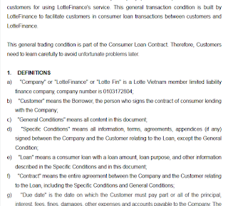 Guidelines for loan terms