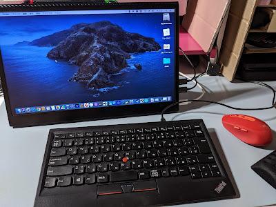 cocoparモバイルモニター写真 Macと接続3