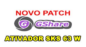 GSHARE NOVA ATUALIZAÇÃO PATCH KEYS 63W - 22/05/2018