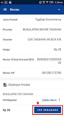 Cek Tagihan Virtual Account Bukalapak