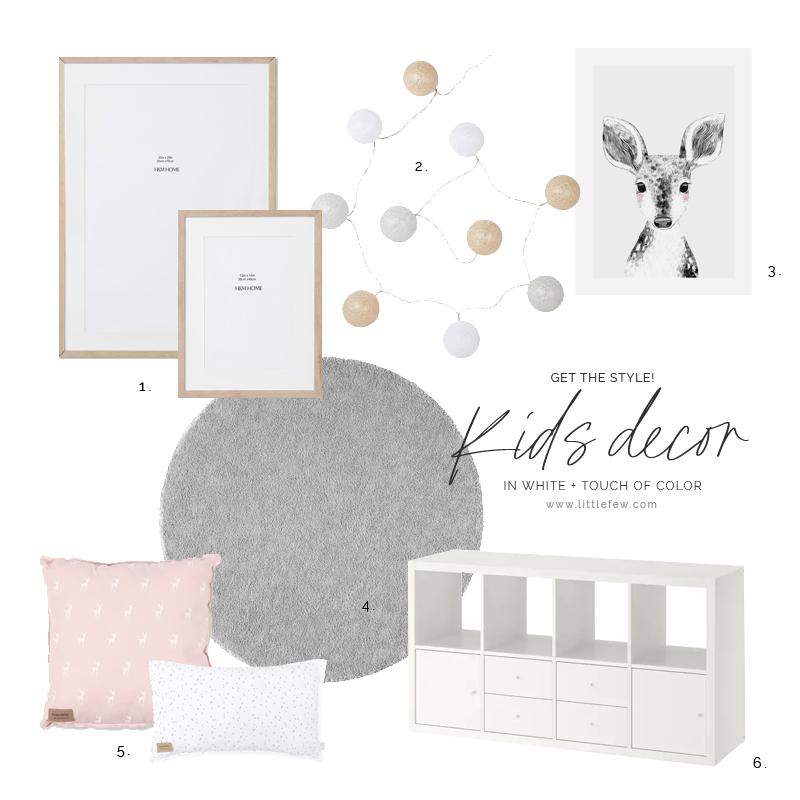 Dormitorio infantil de estilo nórdico y toque de color / Nordic style children's bedroom with a touch of color