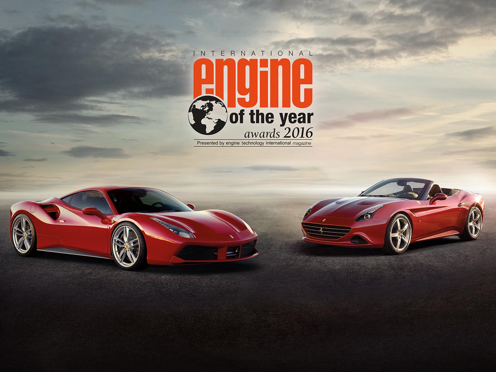 Động cơ 3.9 lít Turbochargerd V8 trên Ferrari là động cơ tốt nhất của năm
