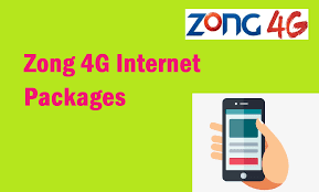 Buy these Zong 4G internet device packages: 2020
