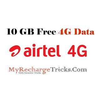 Airtel 4G Free Data Offer