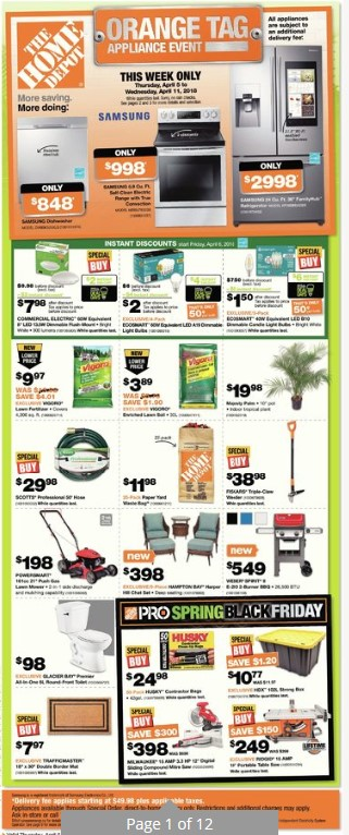 Home Depot Flyer Weekly - Valid April 5 – April 11, 2018 - Weekly