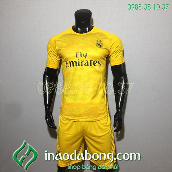 Áo bóng đá câu lạc bộ Real màu vàng 2020