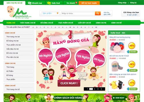 Khi thiết kế website mẹ và bé cần chú ý điều gì?