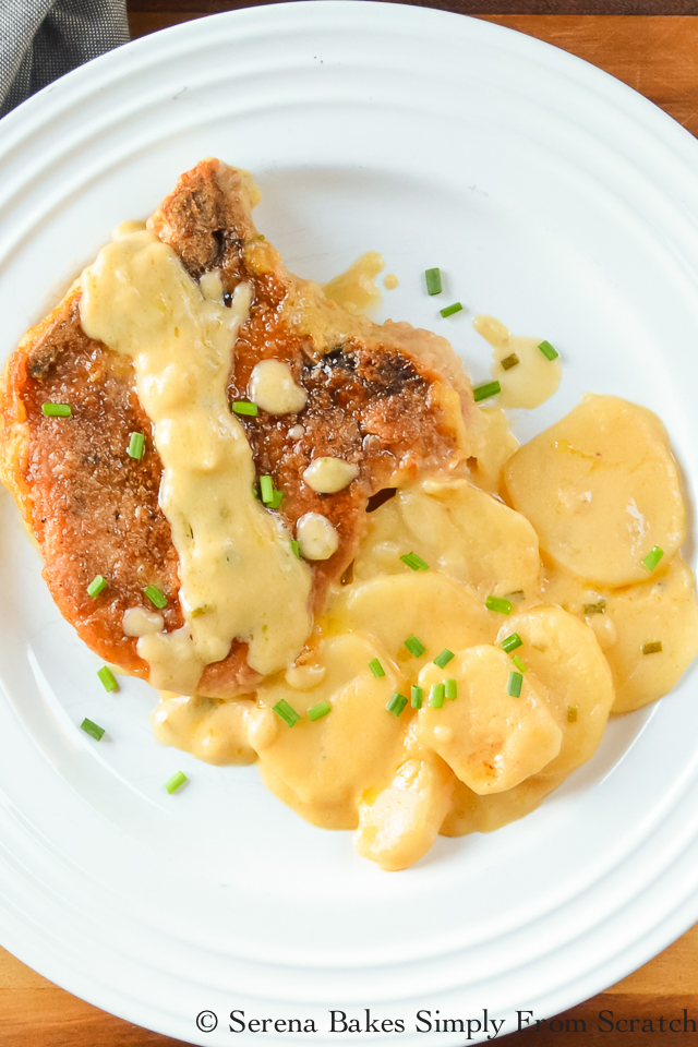 Cheesy Pork Chop and Potato Casserole Recipe