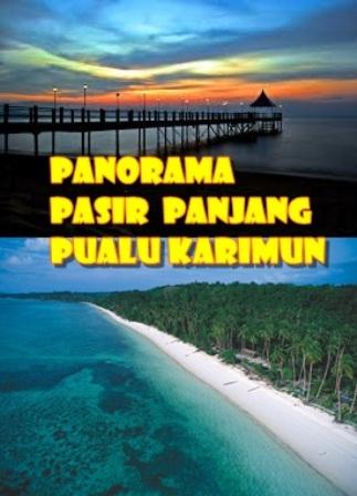 Gambar Prasasti panorama keindahan alam Pasir Panjang Riau Indonesia