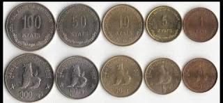 uang koin myanmar