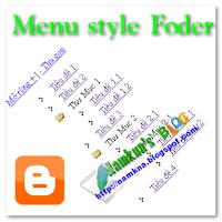 Menu dạng thư mục đơn giản cho blogger