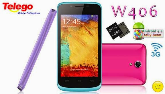Telego W406, 4-inch Dual Core For Php2,899