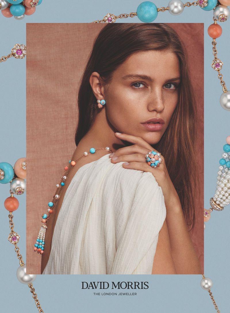 Luna Bijl stars in David Morris Jewelry 2019/2020 campaign