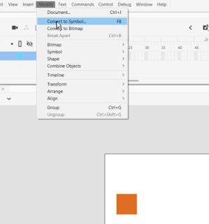spreminjanje animacije elementa v simbol