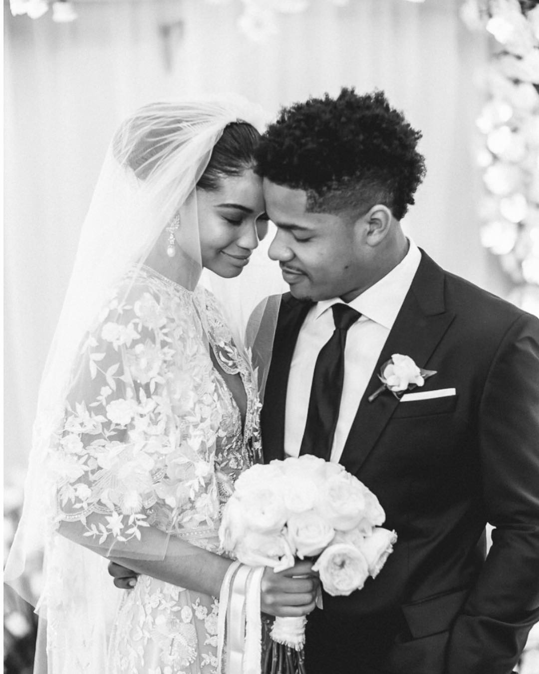 Chanel Iman and Sterling Shepard got married at the Beverly Hills Hotel in Beverly Hills, California .