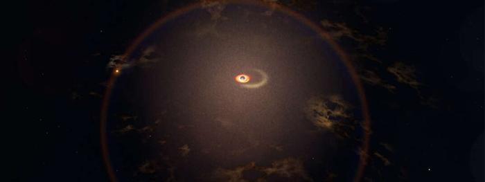 buraco negro devorando estrela