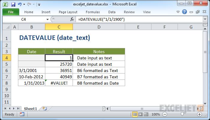 صيغ وشرح استخدام الدالة DATEVALUE في برنامج Microsoft Excel