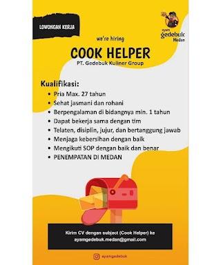 Cook Helper di PT Gedebuk Kuliner Group
