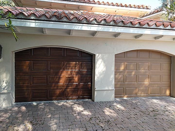 Painting Garage Doors To Look Like Wood