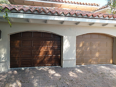 painting garage doors to look like wood
