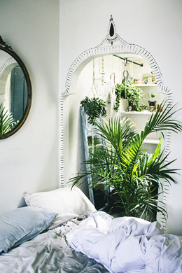 Greenery Pantone Colour of the Year 15-0343 Bright Airy Plant Bedroom Interior