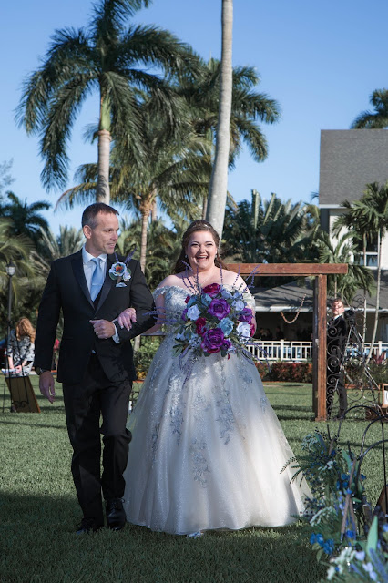 wedding ceremony at white orchid at oasis in fort myers