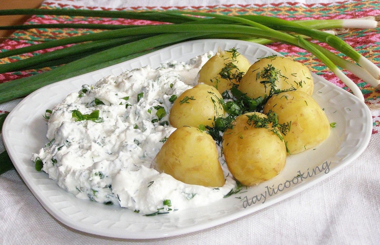 poznański przysmak, poznańskie danie, ziemniaki z twarogiem, daylicooking
