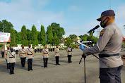 AKBP Gunawan Tri Laksono, S.I.K Pimpin Upacara Sertijab PJU Polres Tebo