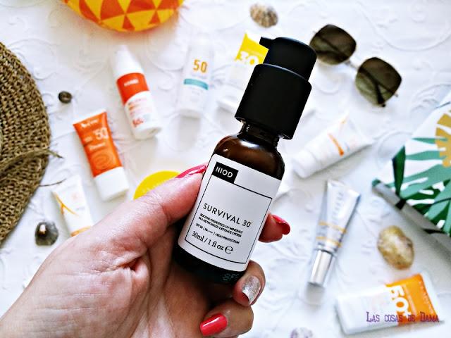 Survival 30 NIOD Protección Solar Facial antiaging antienvejecimiento sunprotect beauty salud belleza antiedad manchas