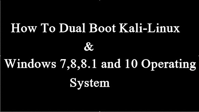 How To Dual Boot Kali with Windows | Kali Linux